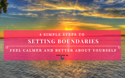 The Secret to Setting Boundaries to feel calmer and better about yourself.